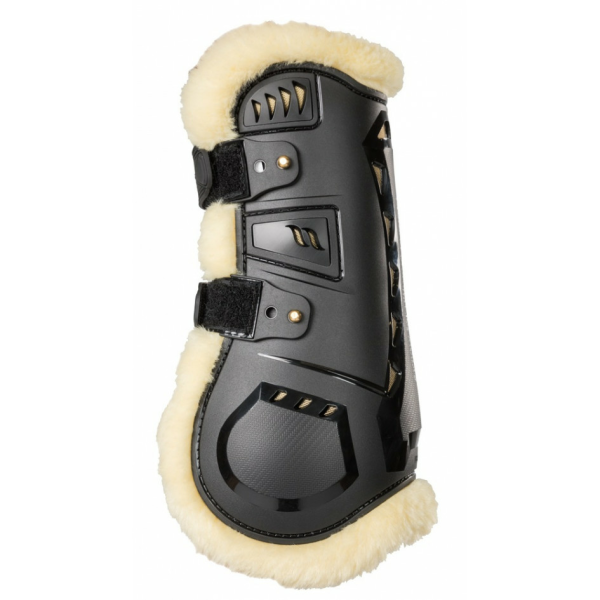 Back on Track Air Flow Tendon Boots mit Fell Springgamaschen schwarz S (Pony)